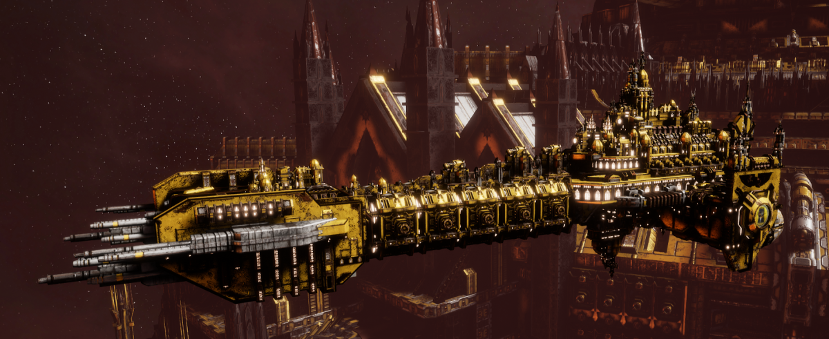 Adeptus Astartes Battleship - Battle Barge MK.I (Imperial Fists Sub-Faction)