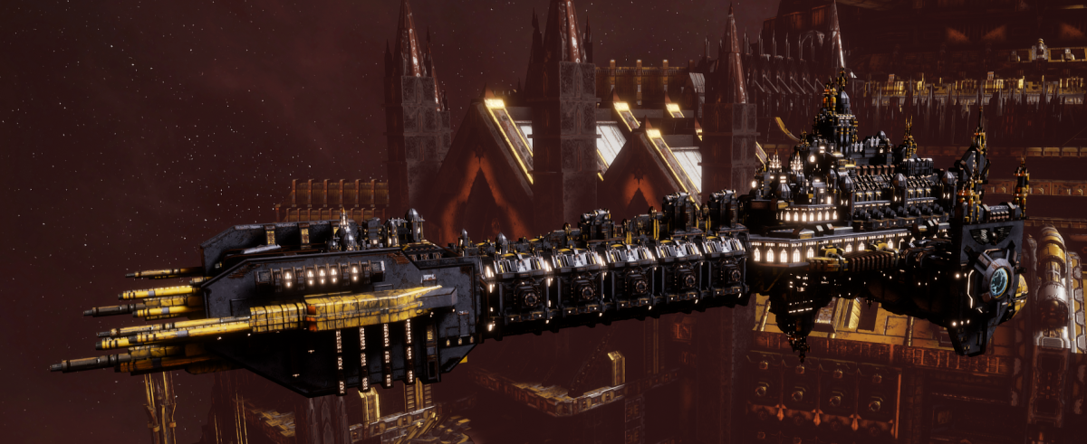 Adeptus Astartes Battleship - Battle Barge MK.I (Space Wolves Sub-Faction)