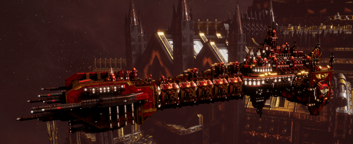 Adeptus Astartes Battleship - Battle Barge MK.II (Blood Angels Sub-Faction)