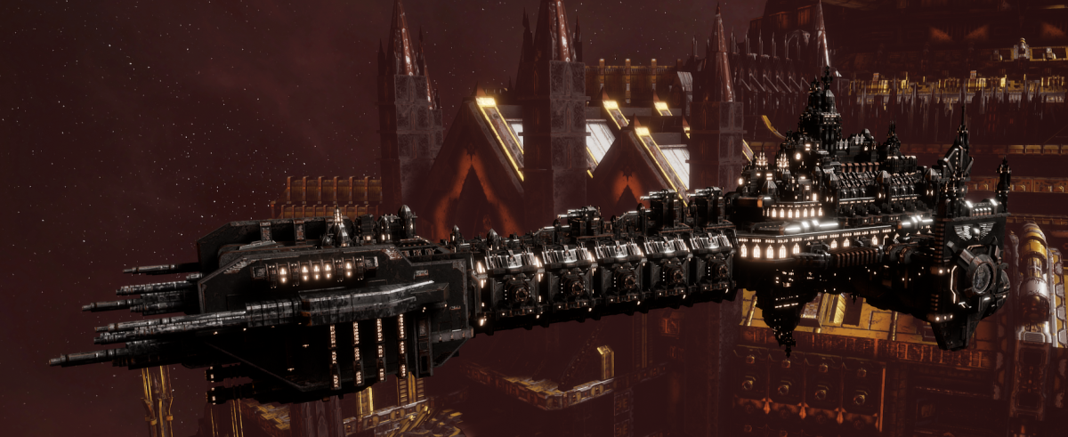 Adeptus Astartes Battleship - Battle Barge MK.II (Iron Hands Sub-Faction)