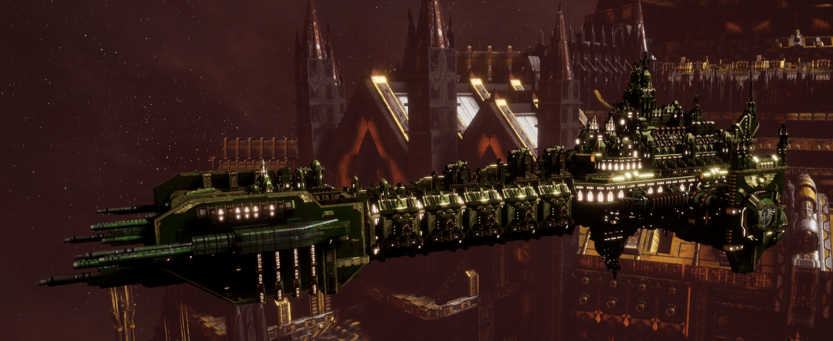 Adeptus Astartes Battleship - Battle Barge MK.I (Dark Angels Sub-Faction)