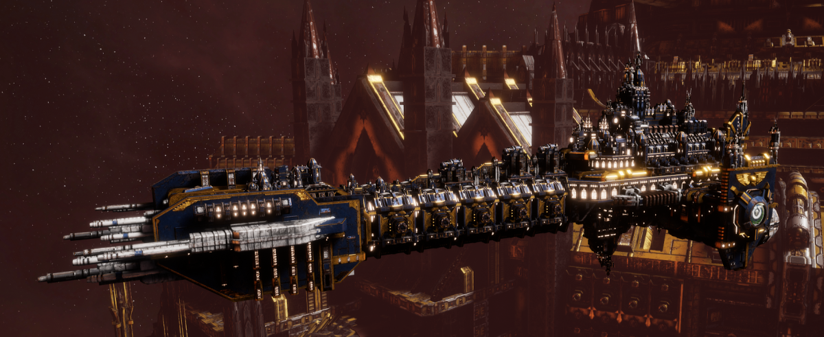 Adeptus Astartes Battleship - Battle Barge MK.I (Ultramarines Sub-Faction)