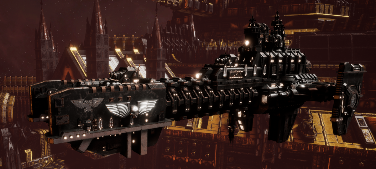 Adeptus Astartes Frigate - Gladius (Iron Hands Faction)