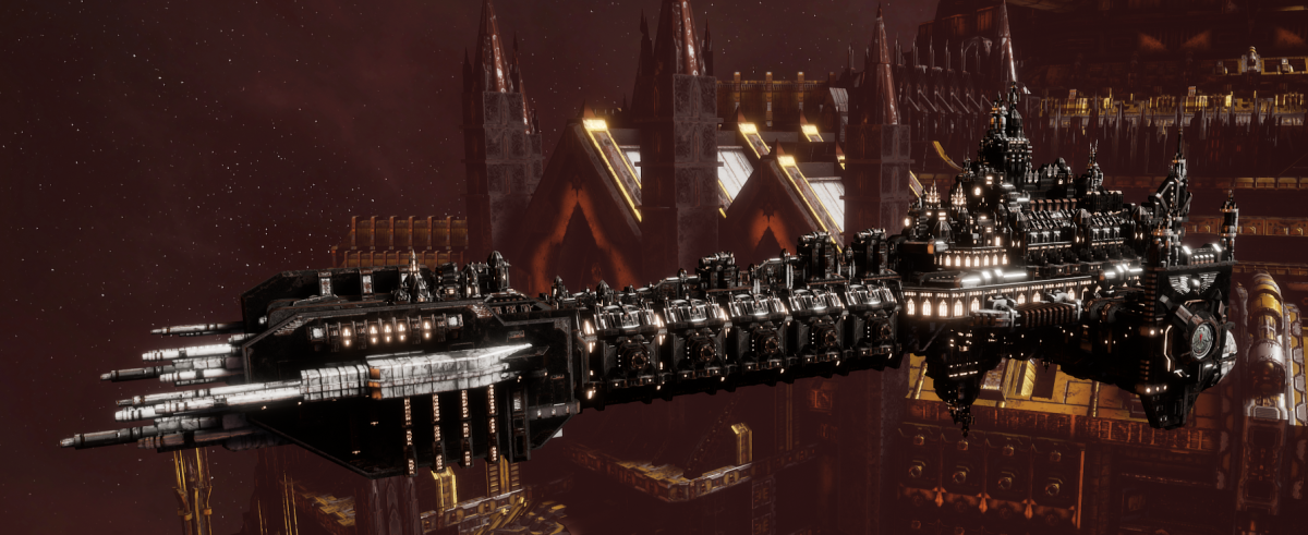 Adeptus Astartes Battleship - Battle Barge MK.I (Raven Guards Sub-Faction)