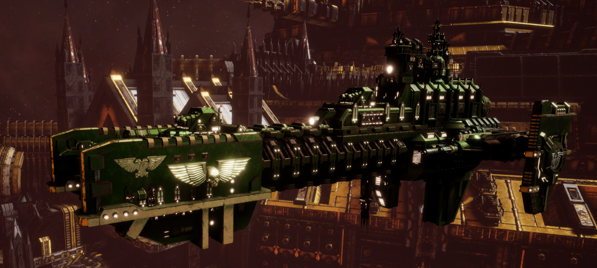 Adeptus Astartes Frigate - Gladius (Dark Angels Faction)