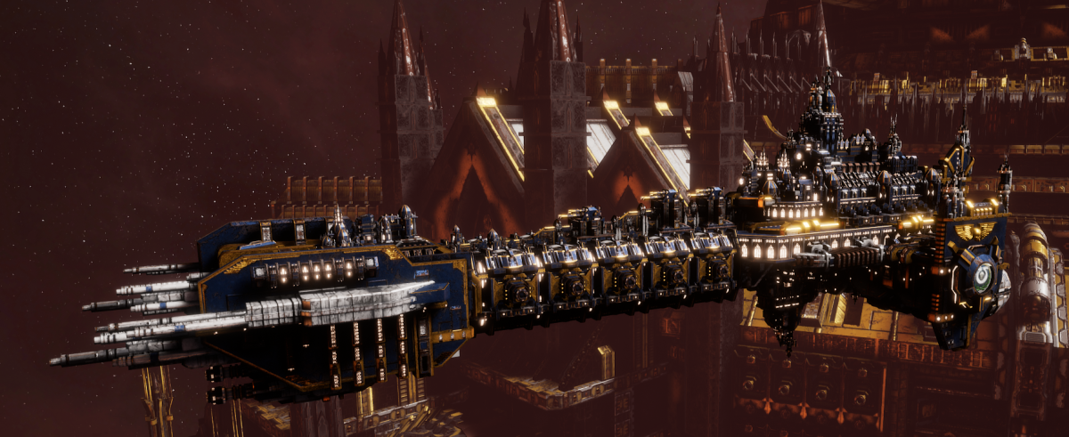 Adeptus Astartes Battleship - Battle Barge MK.II (Ultramarines Sub-Faction)