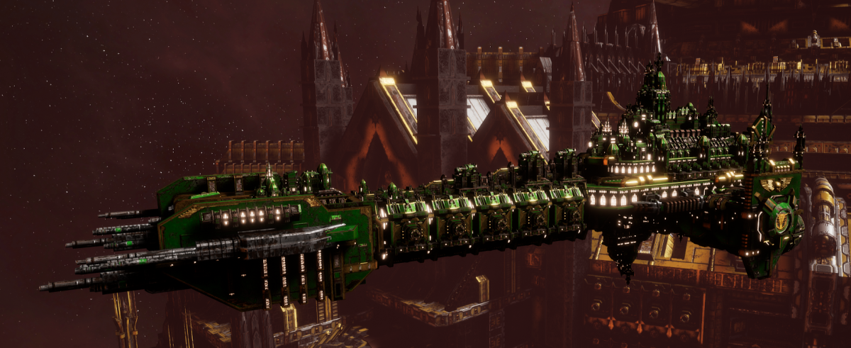 Adeptus Astartes Battleship - Battle Barge MK.I (Salamanders Sub-Faction)