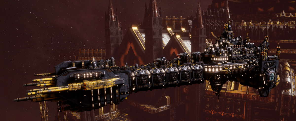 Adeptus Astartes Battleship - Battle Barge MK.II (Space Wolves Sub-Faction)