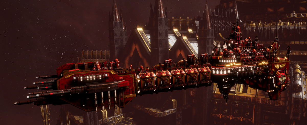 Adeptus Astartes Battleship - Battle Barge MK.I (Blood Angels Sub-Faction)