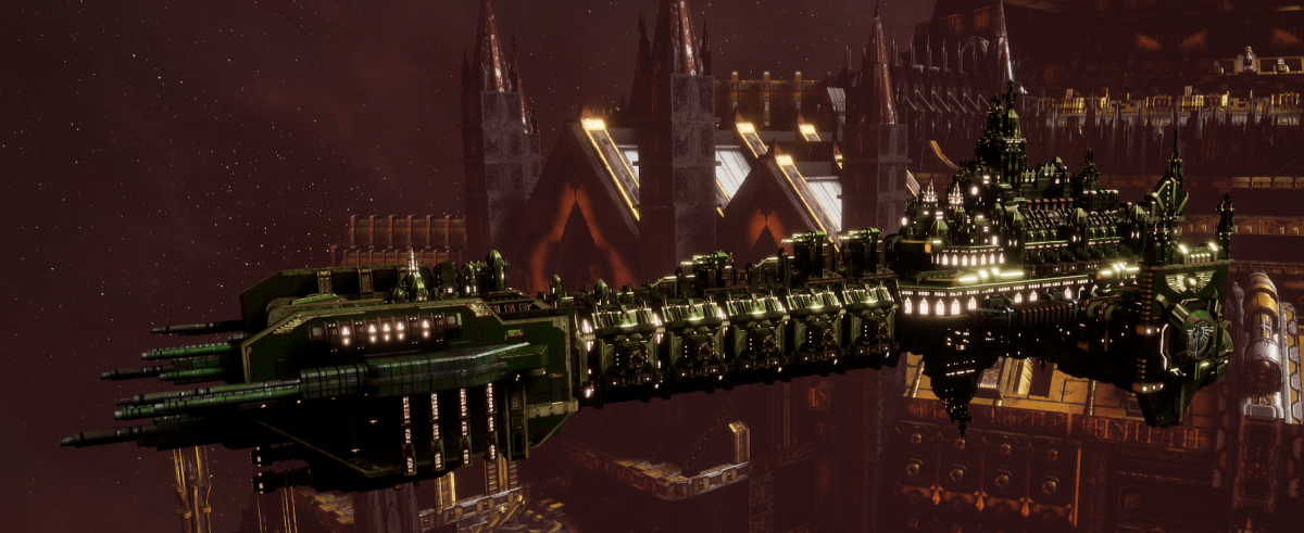 Adeptus Astartes Battleship - Battle Barge MK.II (Dark Angels Sub-Faction)