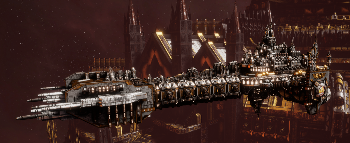 Adeptus Astartes Battleship - Battle Barge MK.I (White Scars Sub-Faction)