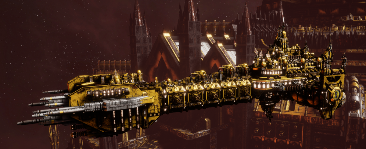 Adeptus Astartes Battleship - Battle Barge MK.II (Imperial Fist Sub-Faction)