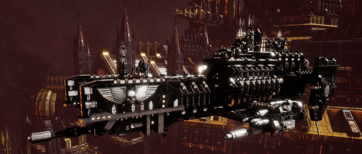 Adeptus Astartes Frigate - Nova (Raven Guards Faction)
