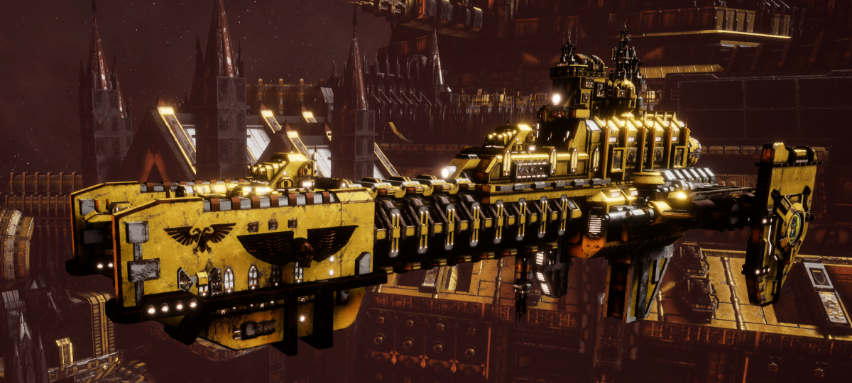 Adeptus Astartes Frigate - Gladius (Imperial Fists Faction)
