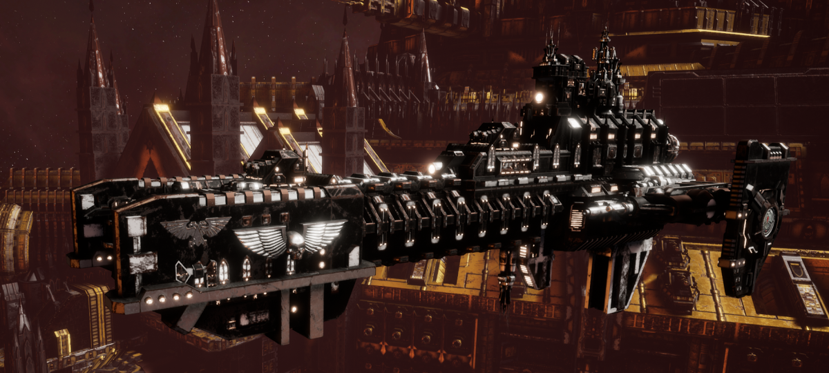 Adeptus Astartes Frigate - Gladius (Raven Guards Faction)