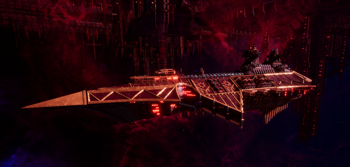 Chaos Cruiser - Devastation (Red Corsairs Sub-Faction)
