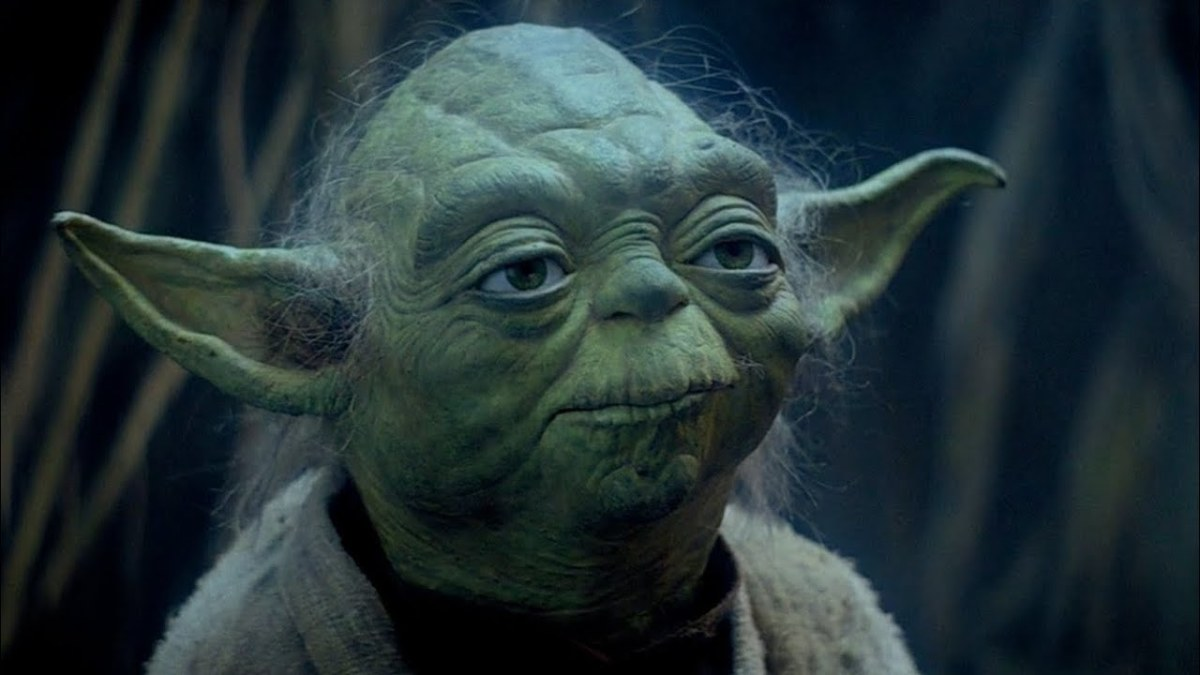 Yoda in exile on Dagobah