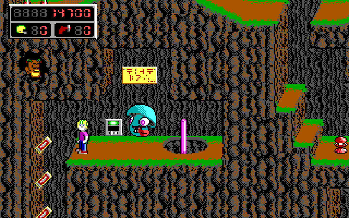 A screenshot from Commander Keen in Goodbye Galaxy.