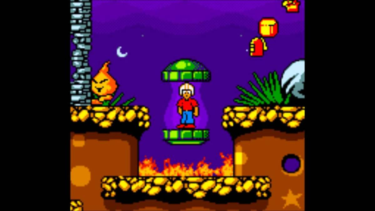 Screenshot from the Gameboy Color reboot of Commander Keen.