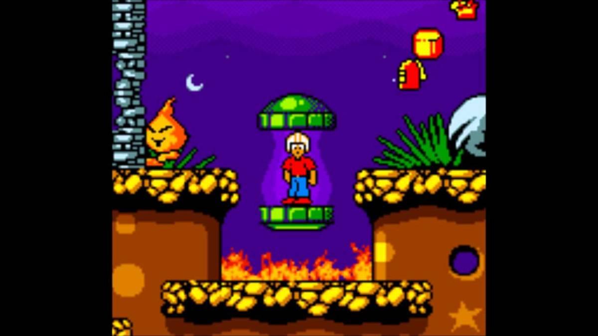 Screenshot from the Gameboy Color reboot of Commander Keen.
