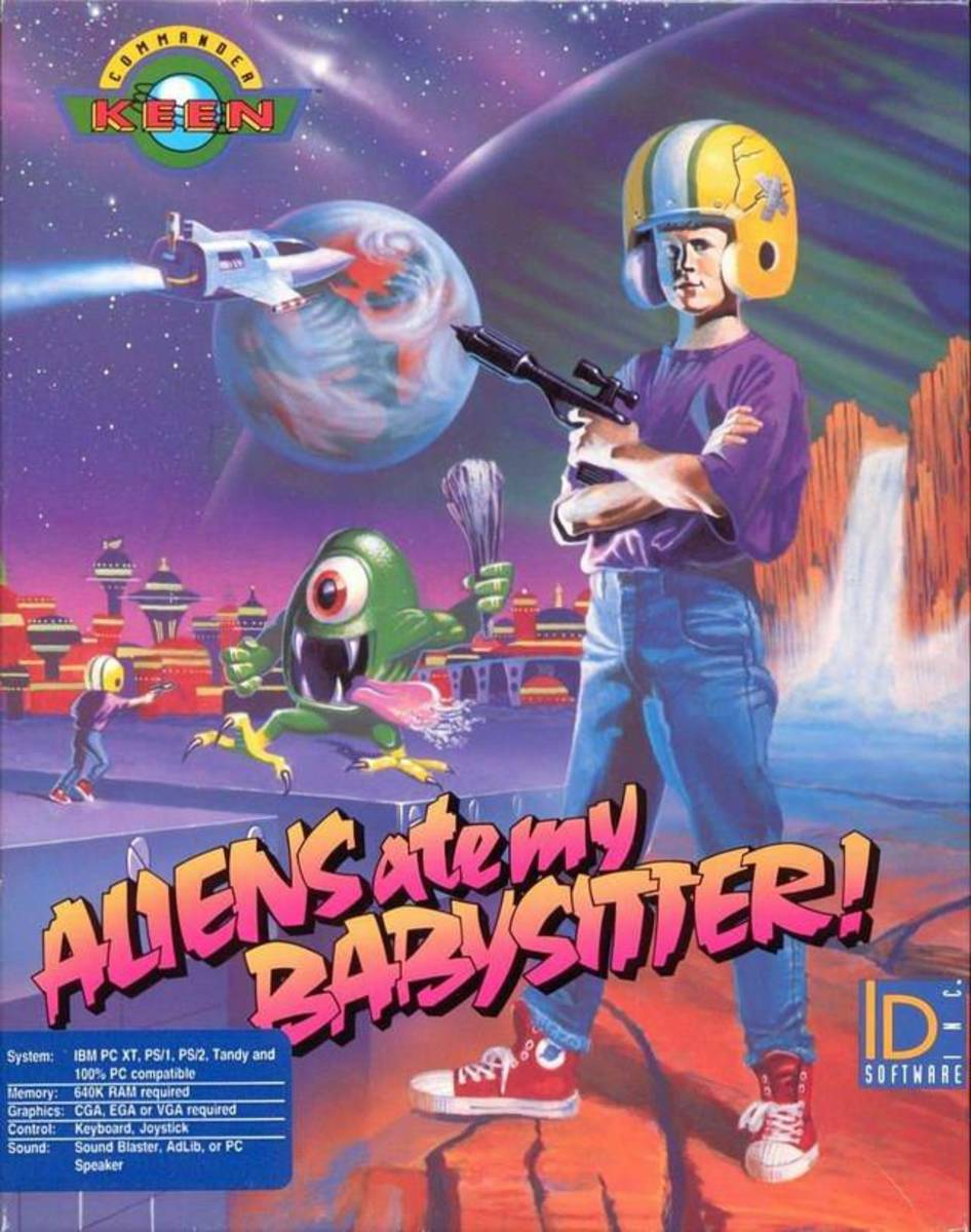 Box art for Commander Keen in Aliens Ate my Babysitter