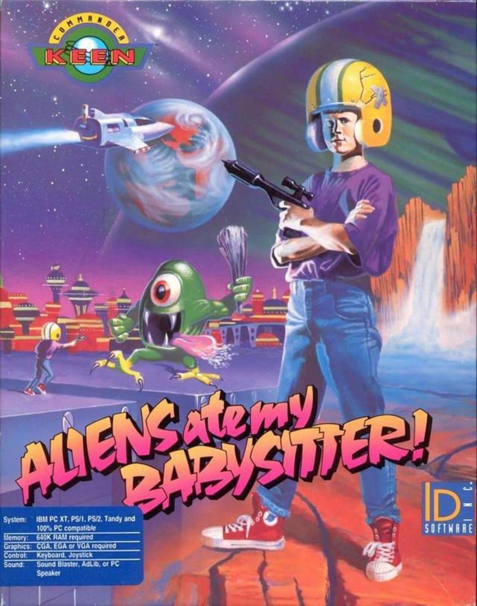 Box art for Commander Keen in Aliens Ate my Babysitter