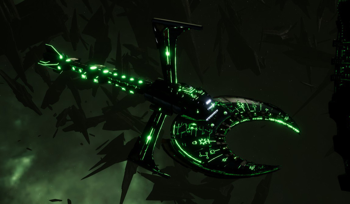 Necron Battle Cruiser - Scythe Ruiner (Charnovokh Sub-Faction)