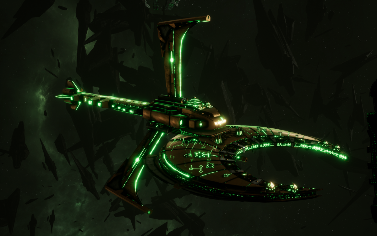 Necron Battle Cruiser - Scythe Reaper (Nephrekh Sub-Faction)
