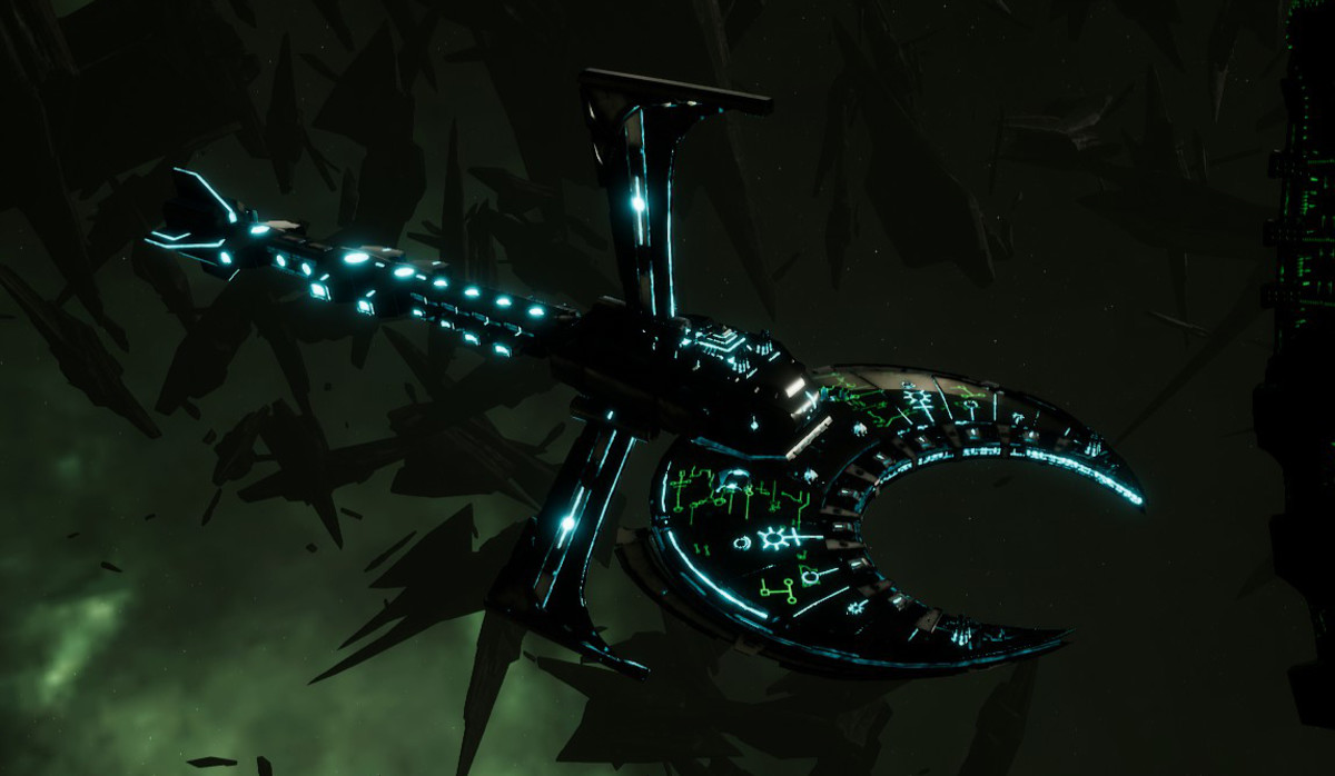 Necron Battle Cruiser - Scythe Ruiner (Thokt Sub-Faction)