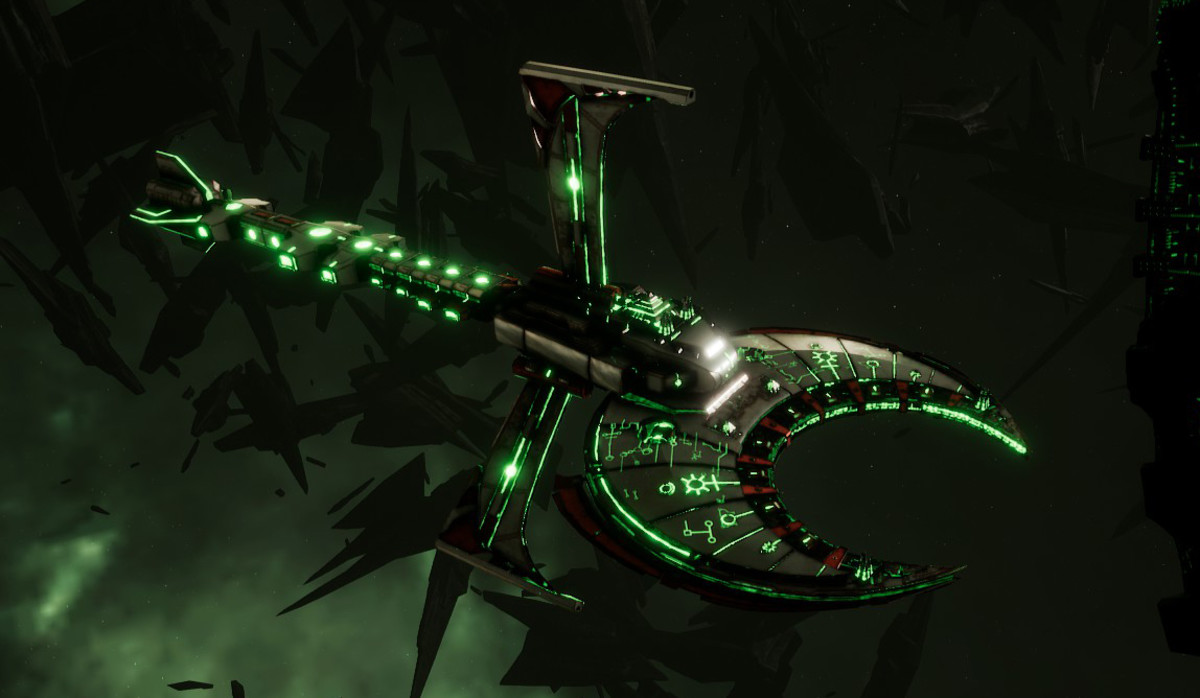 Necron Battle Cruiser - Scythe Ruiner (Sautekh Sub-Faction)