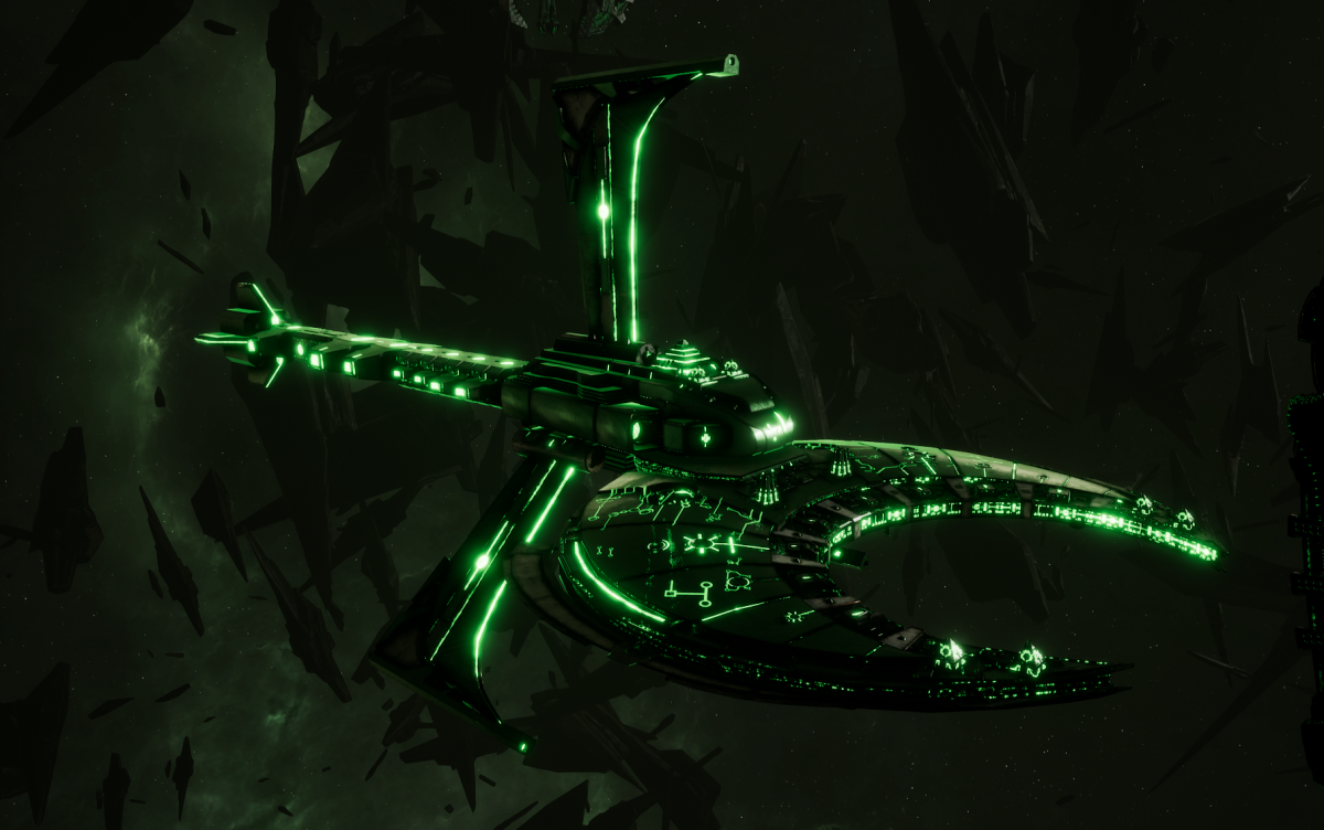 Necron Battle Cruiser - Scythe Reaper (Temeryn Sub-Faction)