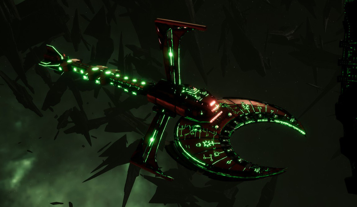 Necron Battle Cruiser - Scythe Ruiner (Novokh Sub-Faction)