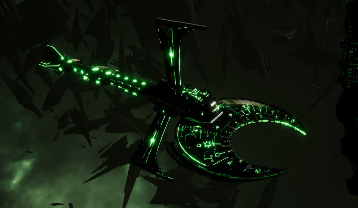 Necron Battle Cruiser - Scythe Ruiner (Nepheru Sub-Faction)