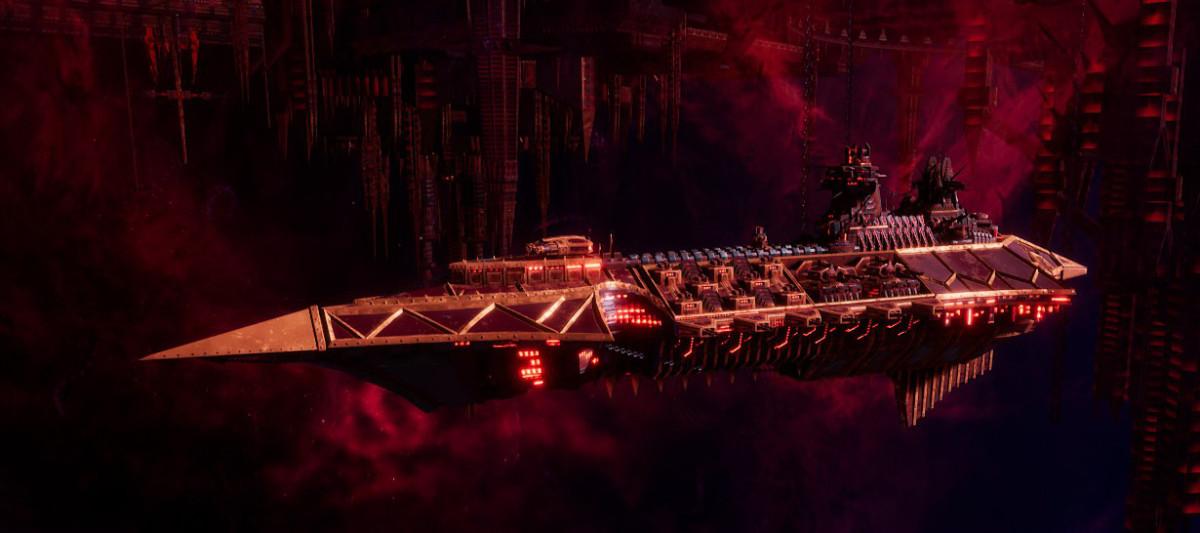 Chaos Cruiser - Emasculator (Red Corsairs)