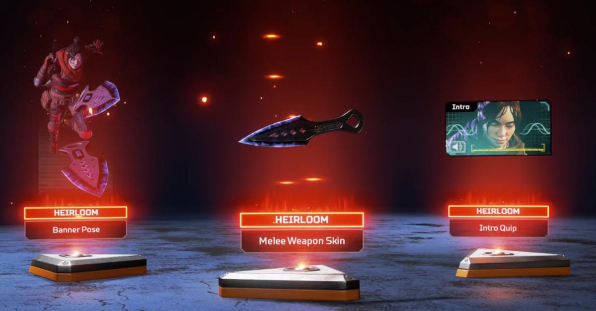 Wraith Heirloom set screenshot.