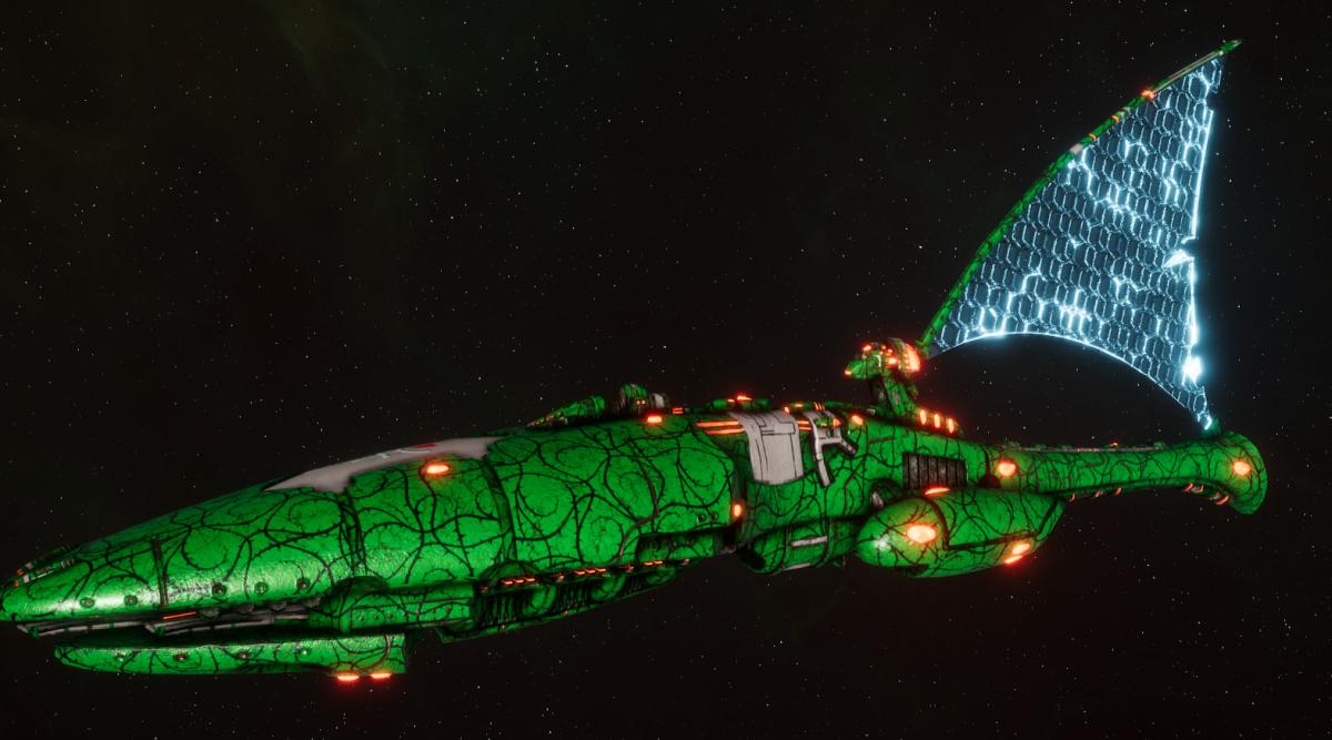 Asuryani Cruiser - Starfall Dragonship [Biel-Tan - Eldar Sub-Faction]