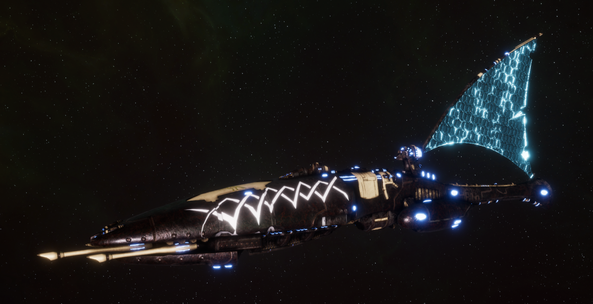 Asuryani Cruiser - Firestorm Dragonship [Ulthwe - Eldar Sub-Faction]