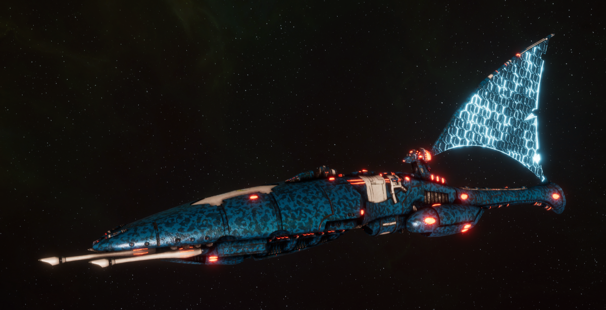 Asuryani Cruiser - Moonray Dragonship [Alaitoc - Eldar Sub-Faction]