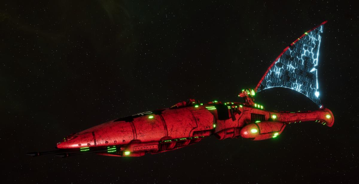 Asuryani Cruiser - Moonray Dragonship [Ynnari - Eldar Sub-Faction]