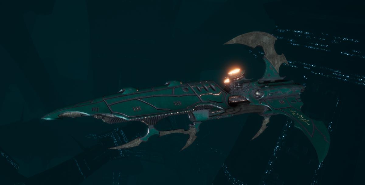 Drukhari Raider Frigate - Talon Cyriix - [Broken Sigil Sub-Faction]
