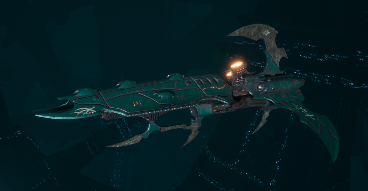 Drukhari Raider Frigate - Lost Hatred - [Broken Sigil Sub-Faction]