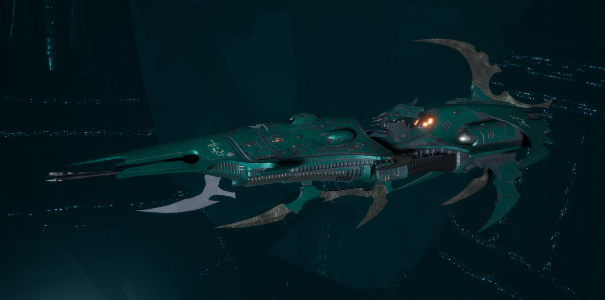 Drukhari Raider Light Cruiser - Dark Mirror - [Broken Sigil Sub-Faction]
