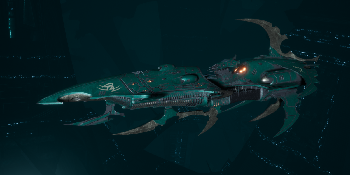 Drukhari Raider Light Cruiser - Bladed Lotus - [Broken Sigil Sub-Faction]