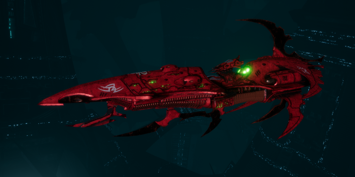 Drukhari Raider Light Cruiser - Bladed Lotus - [Ynnari Sub-Faction]