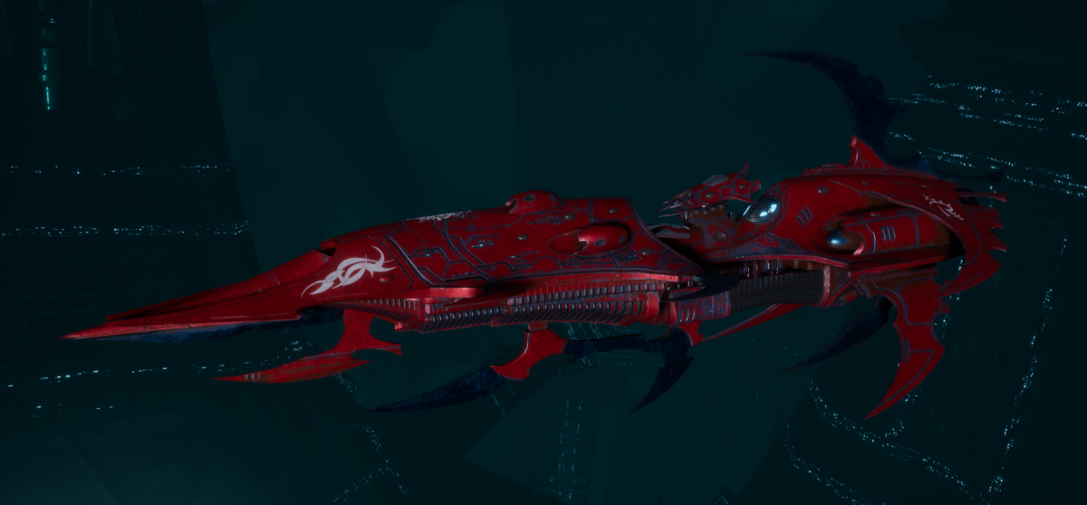 Drukhari Raider Light Cruiser - Baleful Gaze - [Flayed Skull Sub-Faction]