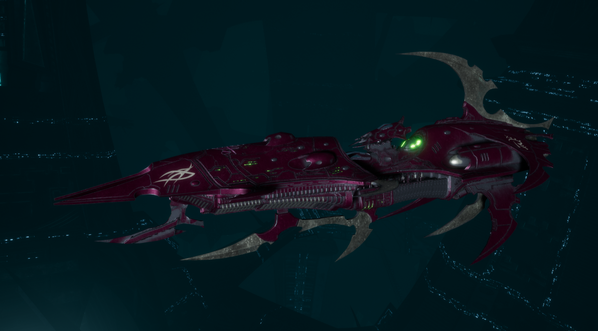 Drukhari Raider Light Cruiser - Burning Scale - [The Severed Sub-Faction]