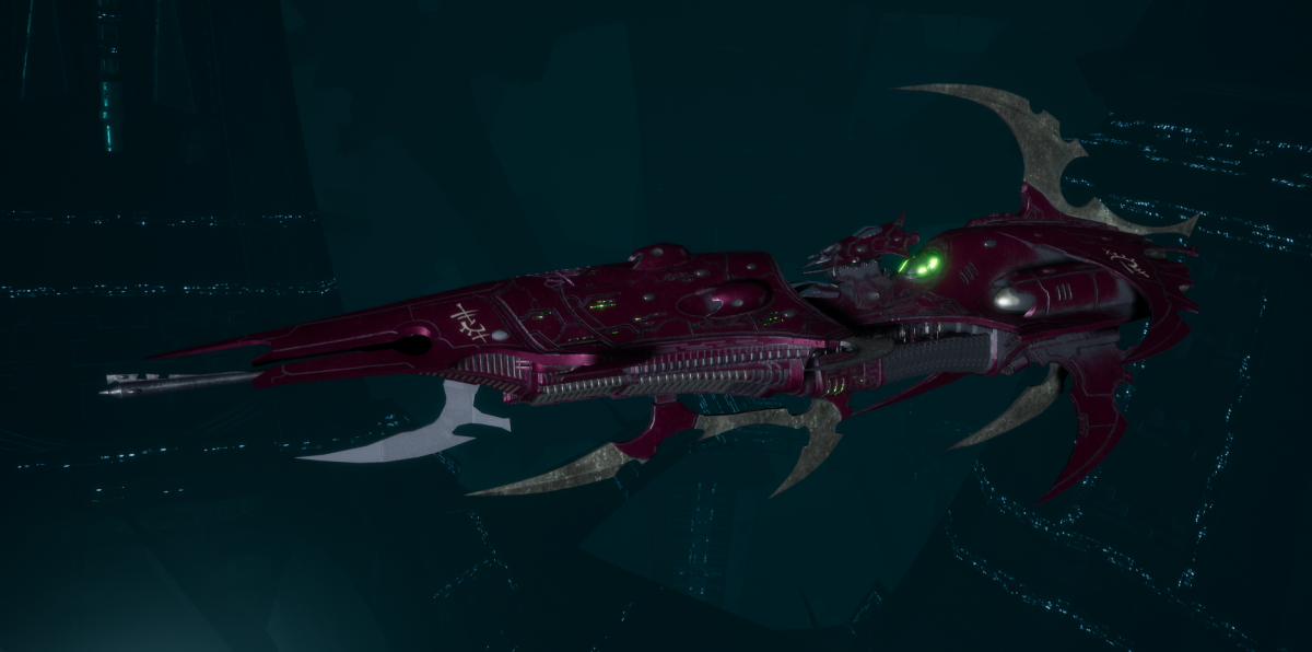 Drukhari Raider Light Cruiser - Dark Mirror - [The Severed Sub-Faction]