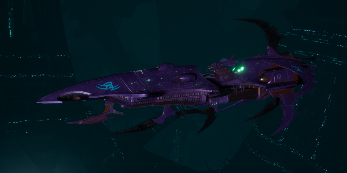 Drukhari Raider Light Cruiser - Bladed Lotus - [Last Hatred Sub-Faction]