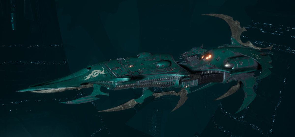 Drukhari Raider Light Cruiser - Baleful Gaze - [Broken Sigil Sub-Faction]