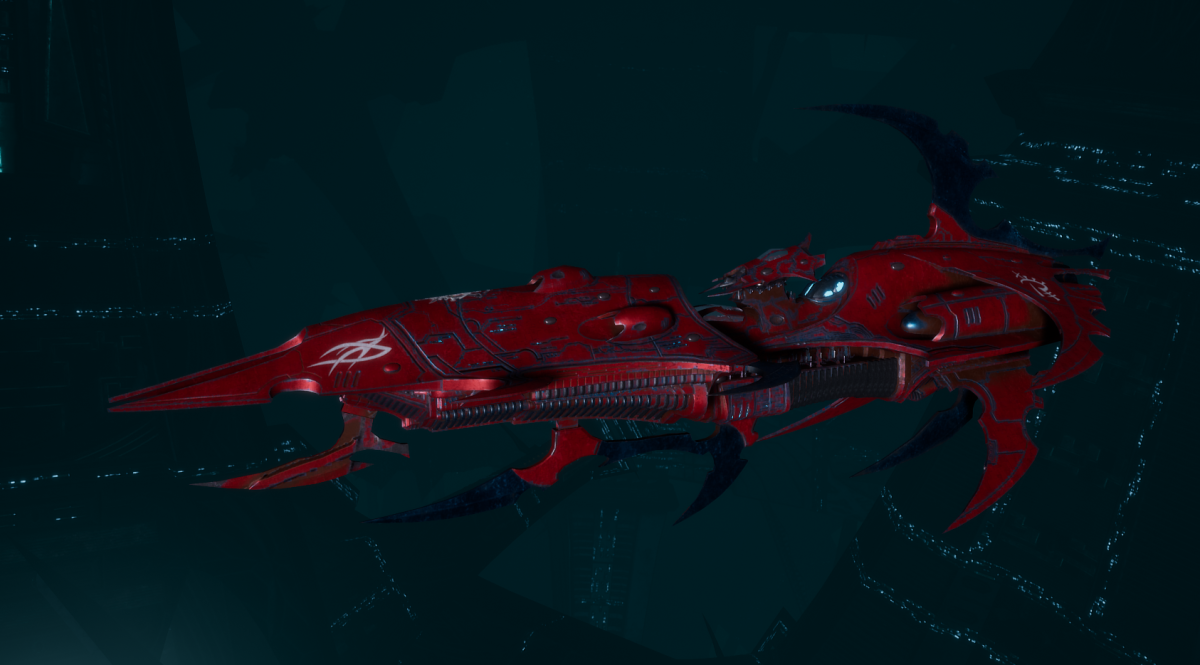 Drukhari Raider Light Cruiser - Burning Scale - [Flayed Skull Sub-Faction]